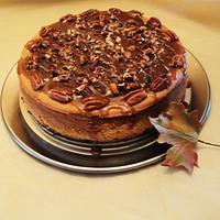 Pumpkin turtle cheesecake