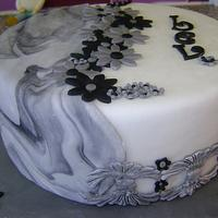 marble iced cake