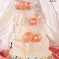 Isomalt wedding cake