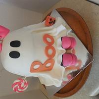 Lil Bit Halloween Ghost cake