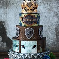 Game of Thrones inspired wedding cake