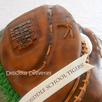 Softball Glove Cake by DeliciousDeliveries