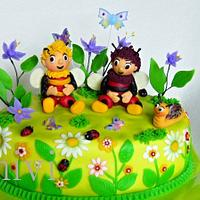 cake bumblebees by mivi