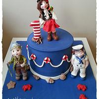 pirate girl cake