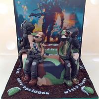 Battlefield Hardline Birthday cake