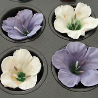 Royal Icing Petunias by Cakes and Beyond by Naheed