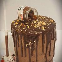 Triple chocolate nutella drip cake