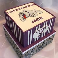Bulldog Graduation Cake