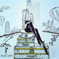 The Jet Set Fashion Cake - Around the World Collaboration