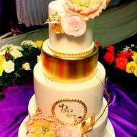 Golden Couple Wedding