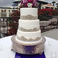 Silver dragee Wedding Cake