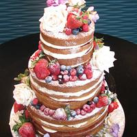 fruity any natural wedding cake by dazzleliciouscakes