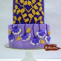 The Purple Wedding- Caker Buddies Collaboration- Buttercream