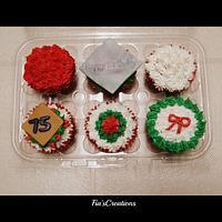 Christmas Birthday Cupcakes