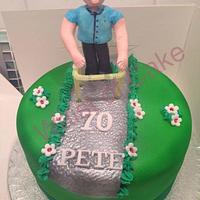 Zimmerframe man cake