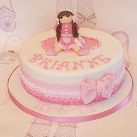 Ragdolly christening cake
