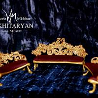 Baroque Royal furniture cake toppers