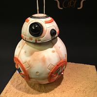 Cake BB-8 with motion and sound