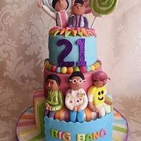 Big Bang Birthday cake