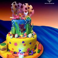 Under the Sea Playdoh Cake