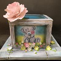 Handpainted Tatty Teddy Cake