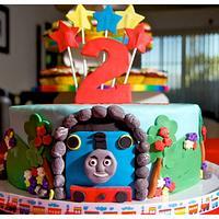 Thomas the train 2nd birthday