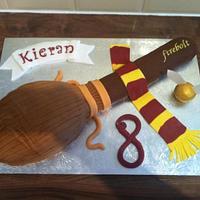 Harry Potter 'FIREBOLT' broom cake