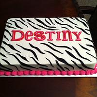 Zebra Striped Cake