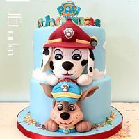 Pawpatrol kids birthday cake