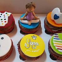 Yoga Theme Baby Shower Cupcakes