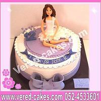 Purple and white 12 'th birthday cake