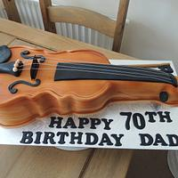 Violin Cake by Claire