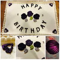 Sheet birthday cake