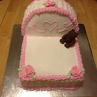 Baby Bassinet Cake  by Damaris Brown