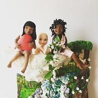 My fondant children 😍😇