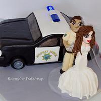Police Car Grooms Cake