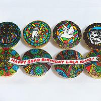 Stained Glass Religious Art Cupcakes by Larisse Espinueva