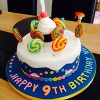 Fun lolly cake