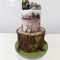 a tourist cake