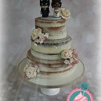 Naked cake with a 'super' twist