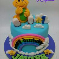 Rainbow cloud BJ cake