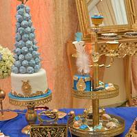 Wedding cake with meringue