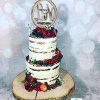 Seminaked Weddingcake