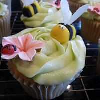 Bees and Ladybirds Cupcakes