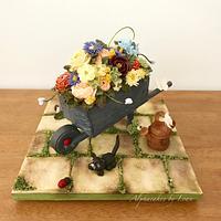 Wheelbarrow Cake
