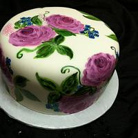 My first painted cake