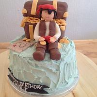 Pirate party cake - X marks the spot!