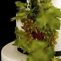 Grapes wedding cake