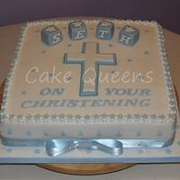 Little Boy's Christening Cake
