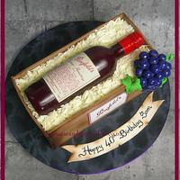 Penfolds Grange Wine Bottle Cake